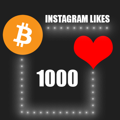 Buy 1000 Instagram likes with bitcoin