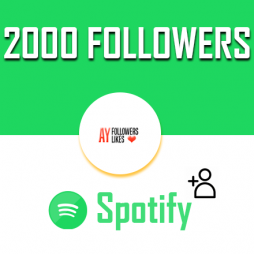 2000 Spotify Followers