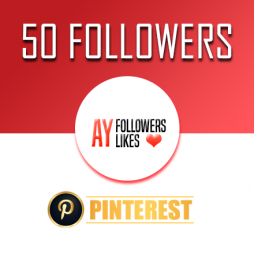 50 Pinterest Followers $1