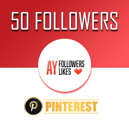 50 Pinterest Followers $1