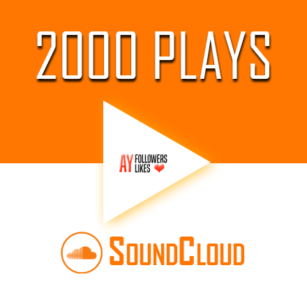 Buy 2000 SoundCloud Plays $2